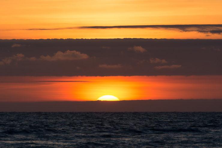 Sonnenuntergang von der Steilküste Nr Rubjerg