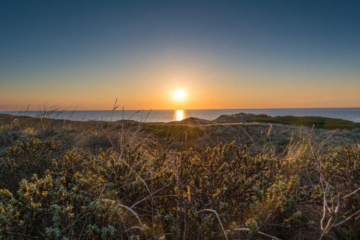 Sonnenuntergang über den Dünen in Stenbjerg - Region Thy