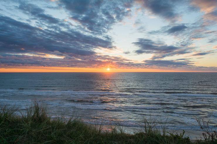 Sonnenuntergang an der Steilküste von Nr. Lyngby - September 2014