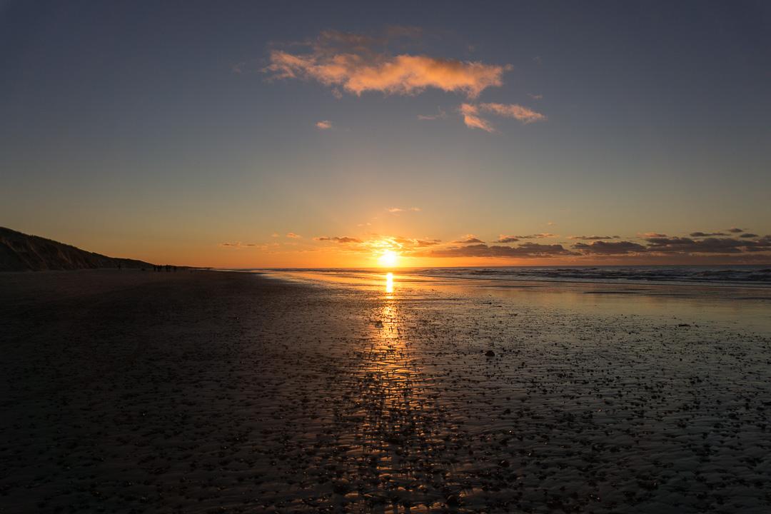 Sonnenuntergang Skallerup-Klit