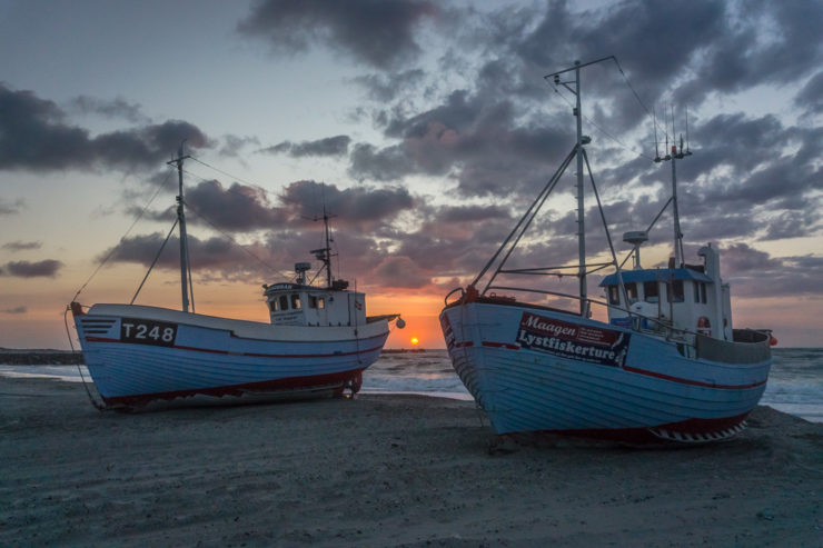 Fischerboote in Vorupør