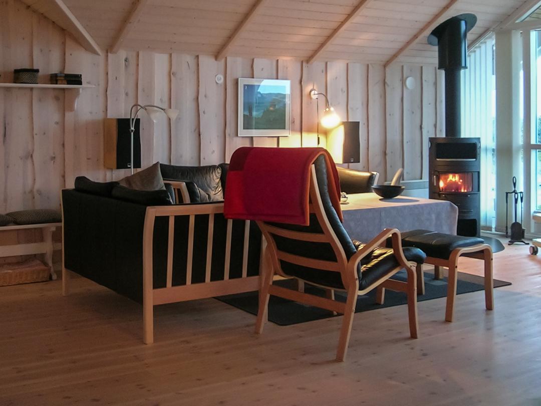 Wohnzimmer im dänischen Ferienhaus