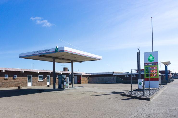 Unbemannte Tankstelle in Dänemark