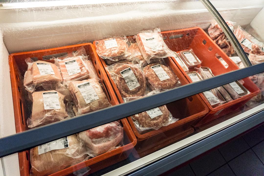 Fleisch von den Charolais-Rindern