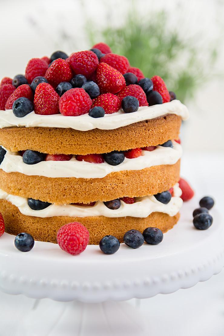 Lagkage - Dänische Geburtstagstorte