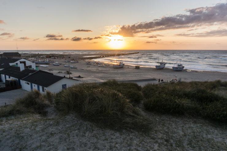 Sonnenuntergang in Vorupør - Region Thy