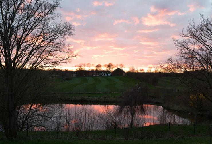 Sonnenuntergang in Gelting