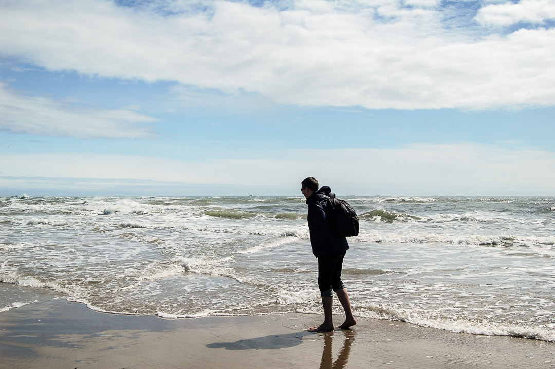 Grenen, hier treffen Nord- und Ostsee aufeinander
