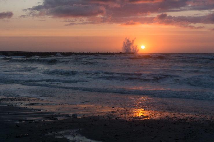 Sonnenuntergang Mole in Vorupør