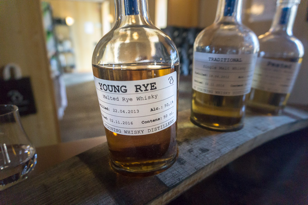 Die drei Sorten Young Rye, Single Malt und Peated / Stauning Whisky
