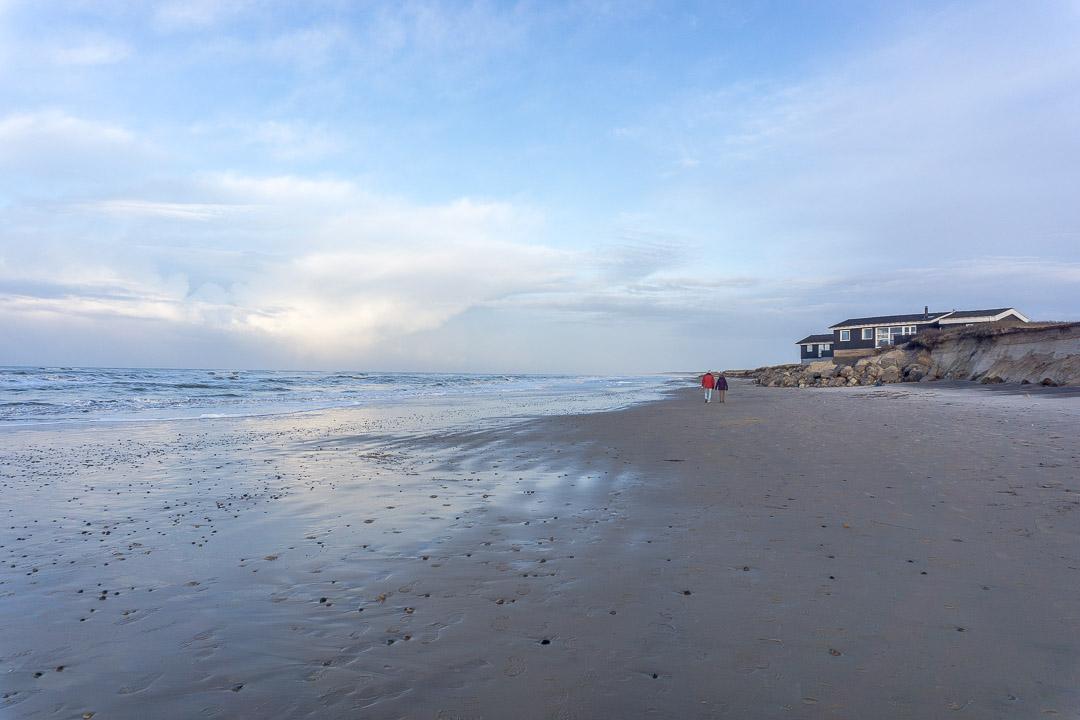 Spaziergang am Strand von Skallerup Klit