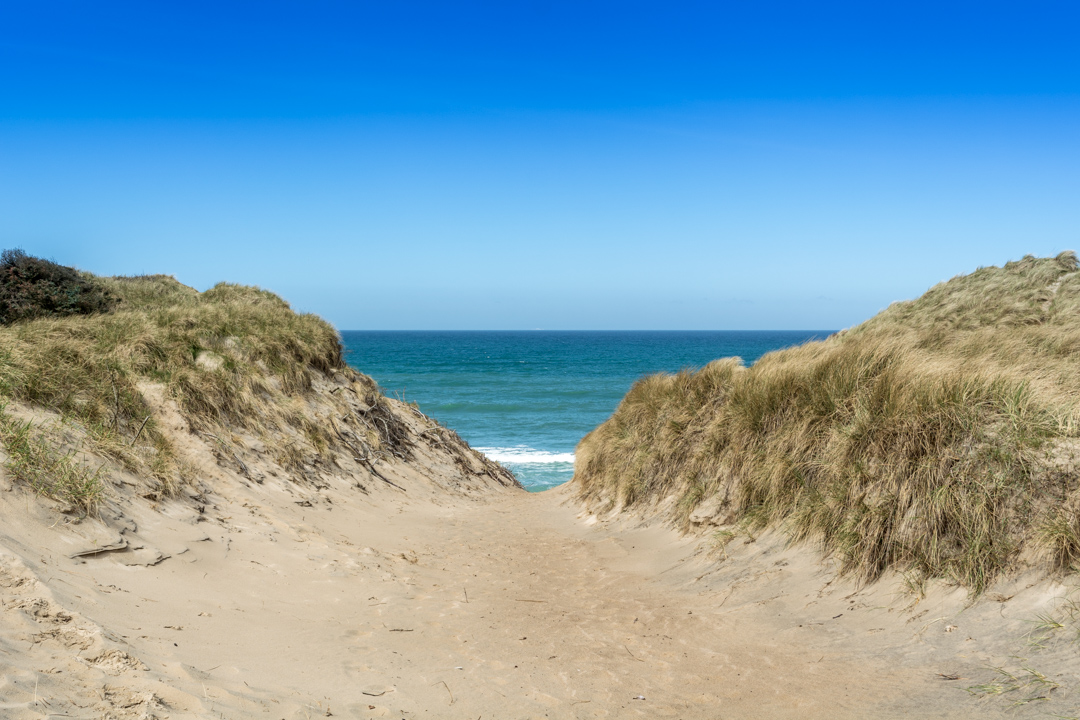 Schönster Moment, der Weg zum Strand