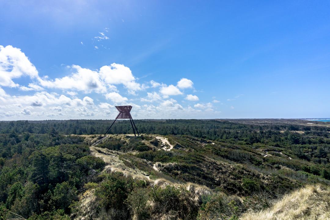 Fantastischer Ausblick über die Landschaft in Thy