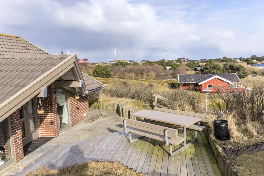 Aussicht von der Südterrasse in Richtung Osten / Ferienhaus Fanø Slunden 9