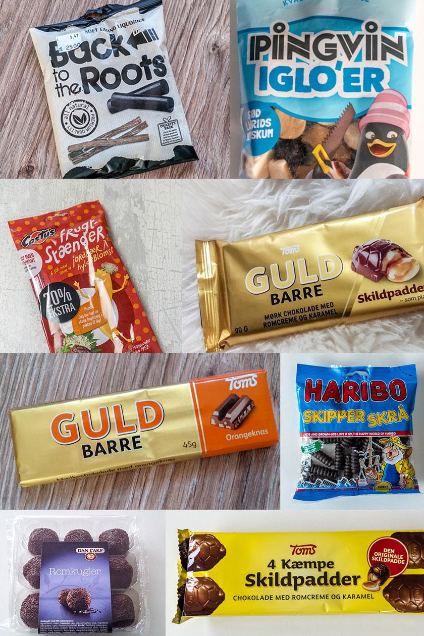 Dänische Lakritz und Süßigkeiten