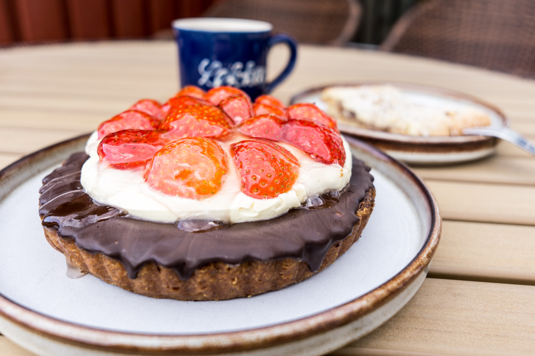 jordbær tærte - Erdbeertorte