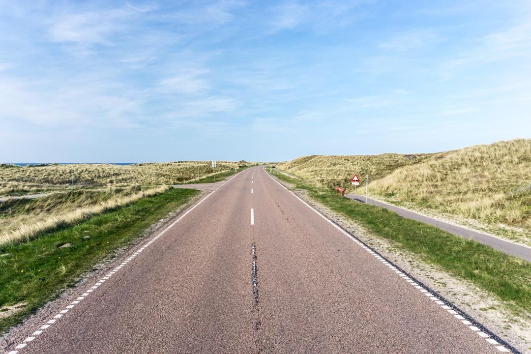Radweg in Dänemark auf der rechten Seite