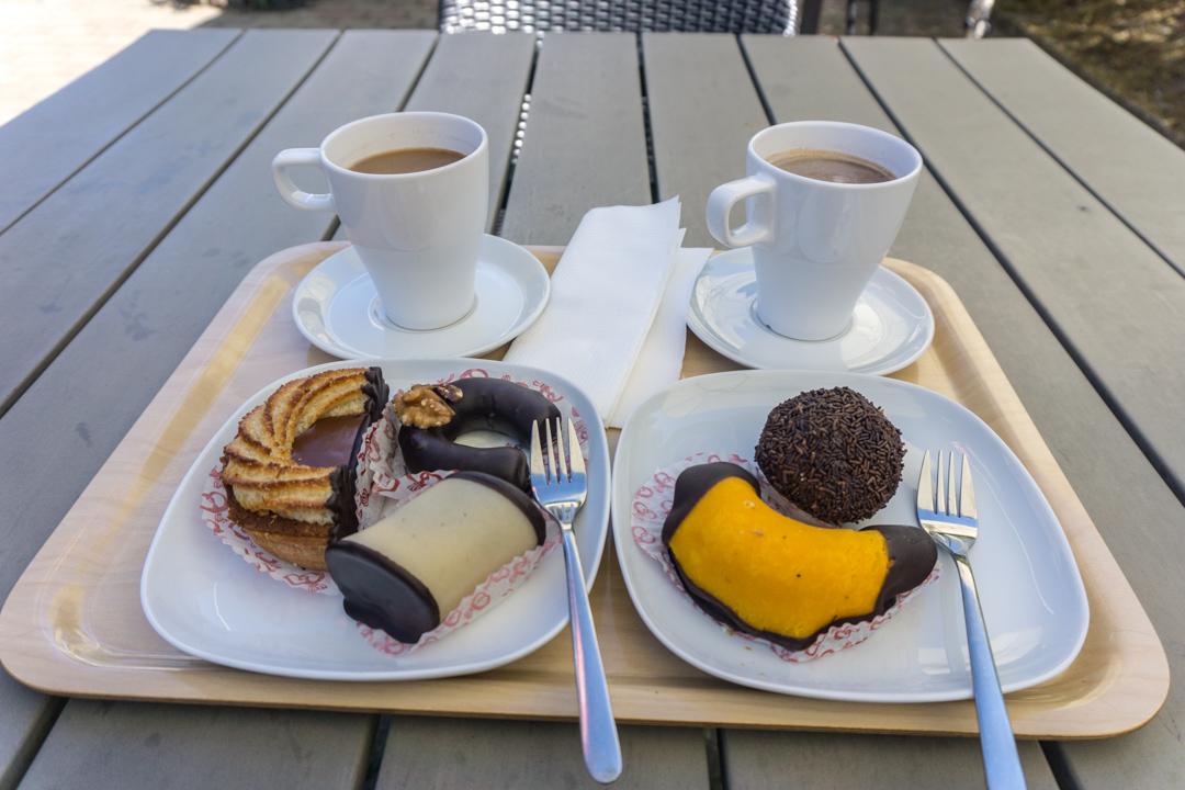 Süße Teilchen beim Rømø Bäcker