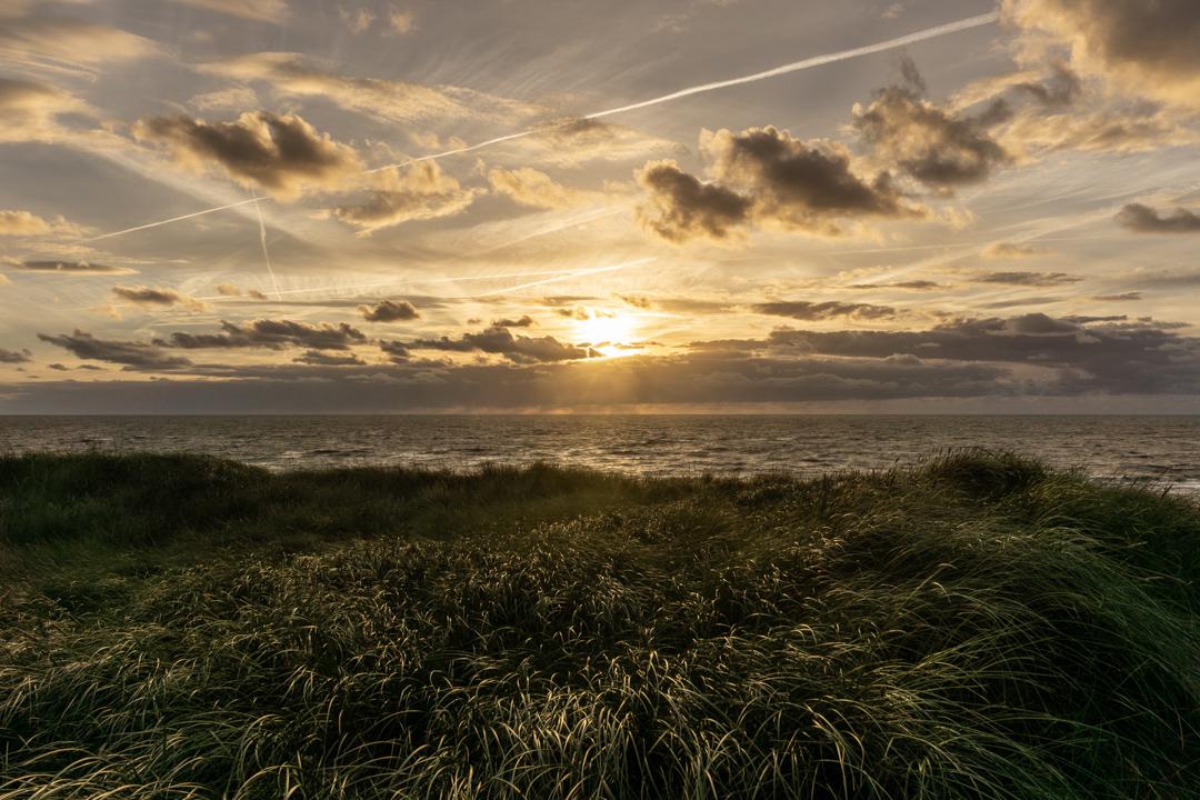 Sonnenuntergang Bjerregard Strand