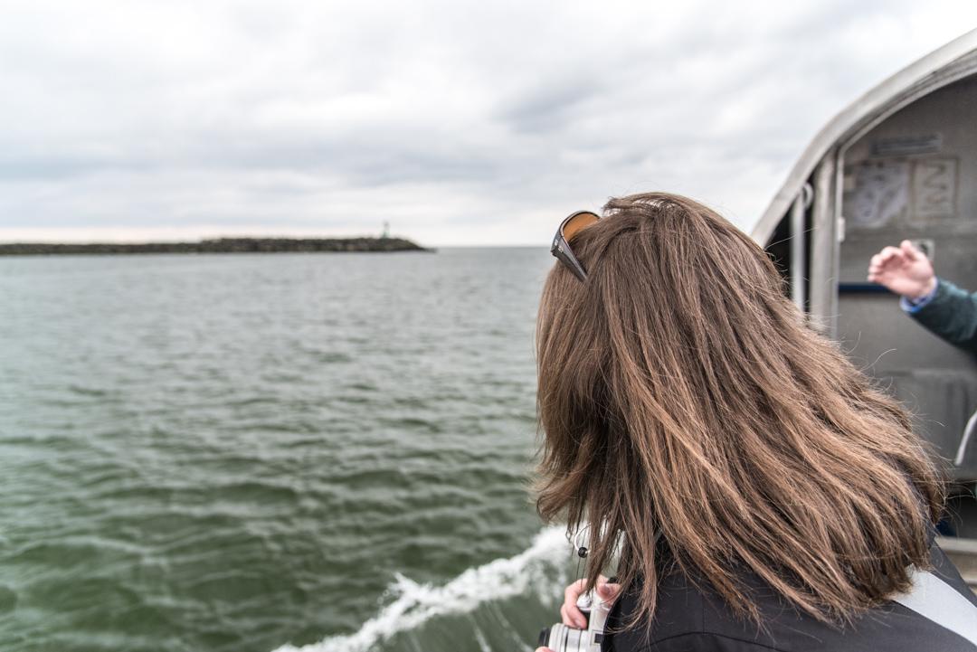 Blick in Richtung Hafenausfahrt Hvide Sande