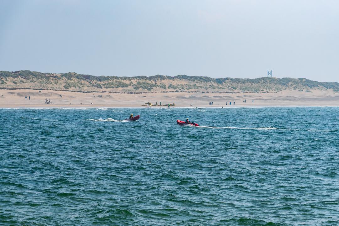Übung der Rettungsschwimmer