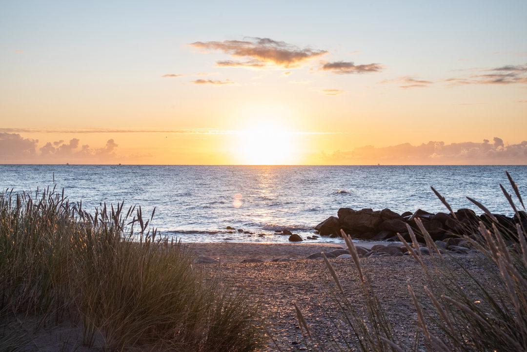 Sonnenaufgang am Strand von Grenen