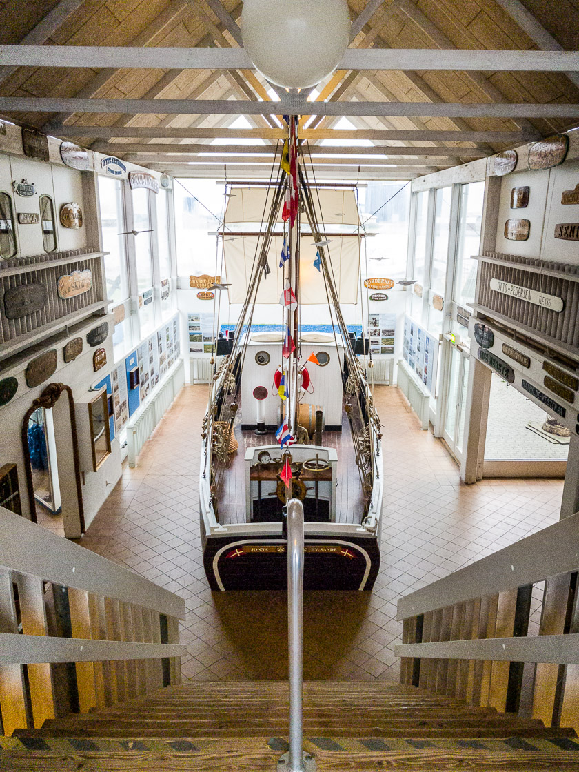 Schiff im Fiskeriets Hus