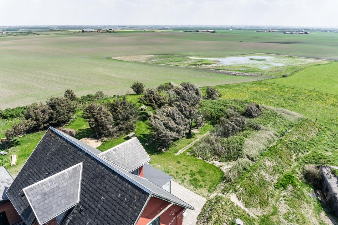Aussicht vom Bovbjerg Fyr süd-östlich auf die Felder