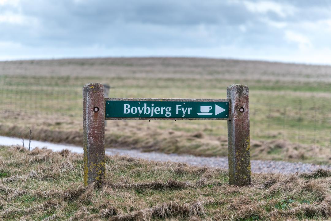 Schild Bovbjerg Fyr